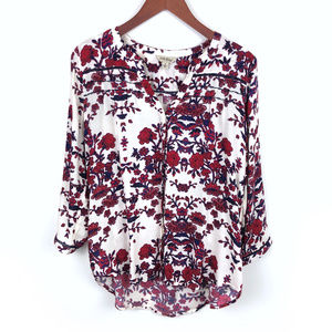 Lucky Brand Floral Flowy Button Down Top